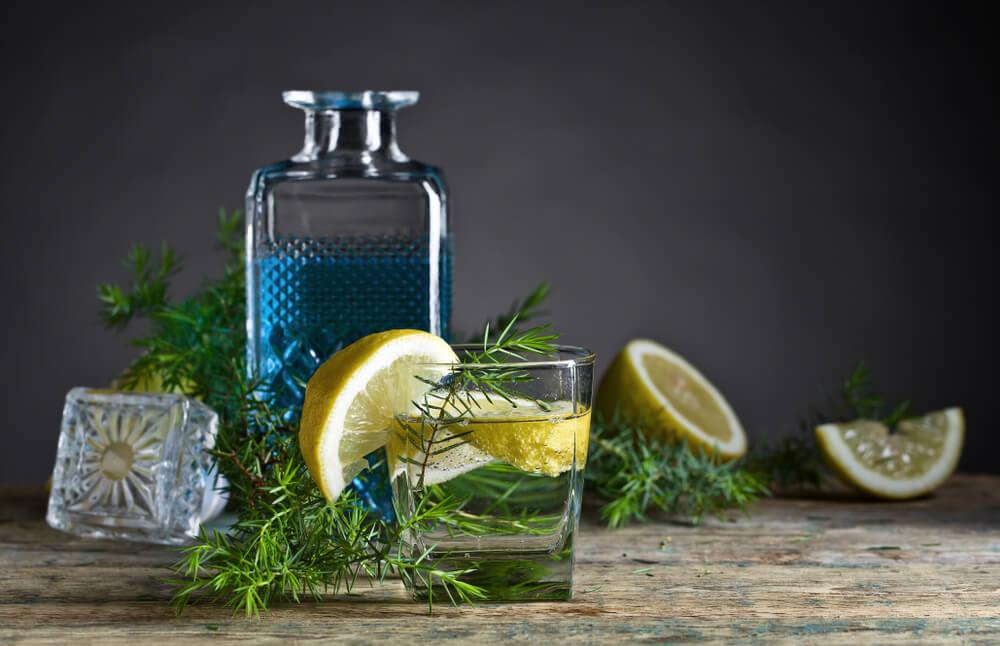 ジンってどんなお酒? ジンとレモンの図