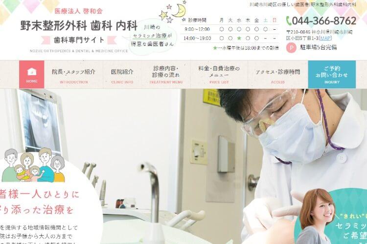 野末整形外科歯科内科のキャプチャ画像
