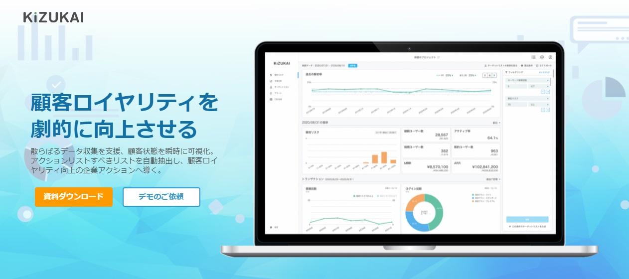 『KiZUKAI』が「導入しやすい CDPツール」など3項目で第1位を獲得!